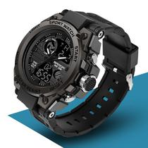 Relógio Masculino Digital Preto Led Resistente à água - SANDA