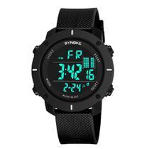 Relógio Masculino Digital Preto Led Resistente à água. - SYNOKE