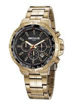 Relógio Masculino Dourado Cronógrafo Seculus 20780GPSVDA1 -