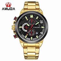 3429079d193 Relógio Masculino Dourado Luxo Amuda - Am5015