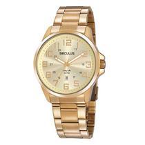 Relógio Masculino em Aço Dourado 20807GPSVDA3 Seculus -