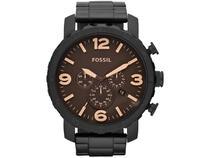 Relógio Masculino Fossil Analógico Nate - JR1356/4MN Preto