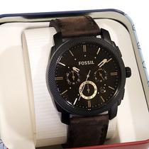 Relógio Masculino Fossil Analóigo Social Couro Marrom FFS4656/Z -