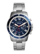 Relógio Masculino Fossil FS5238/1AN 44mm Prata Pulseira Aço -