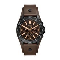 Relógio Masculino Fossil Garret FS5626/0PN 44mm Couro Marrom -