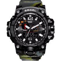 Relógio Masculino G-Shock Exercito Militar Smael 1545 Camuflado Verde -