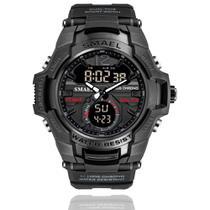 Relógio Masculino G-Shock Smael 1805 Militar Sport Anti-Shock Dual-Time Black Ops -