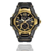 Relógio Masculino G-Shock Smael 1805 Militar Sport Anti-Shock Dual-Time Gold -