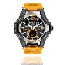 Relógio Masculino G-Shock Smael 1805 Militar Sport Anti-Shock Dual-Time Orange -