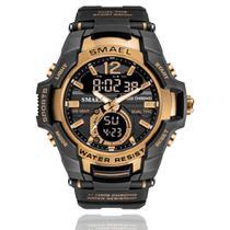 Relógio Masculino G-Shock Smael 1805 Militar Sport Anti-Shock Dual-Time Preto Cobre -