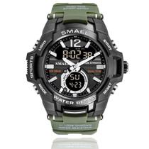 Relógio Masculino G-Shock Smael 1805 Militar Sport Anti-Shock Dual-Time Verde -