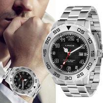 Relógio Masculino Lince Grande Prateado Original com Data MRM4335L P2SX -