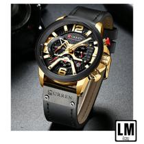 Relógio Masculino Luxo Curren 8329 - Com estojo - Várias Cores -