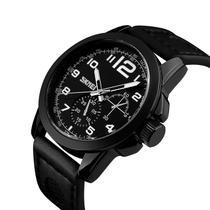 bea69c03f Relógio Masculino Luxo Sport Casual Skmei Analógico Original Marca Skmei  9111 Preto