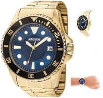 Relógio Masculino Magnum Dourado MA33059A -