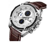 56e4e0a6995 Relógio Masculino Megir 2015 Luxo Com Cronógrafo