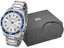 Relógio Masculino Mondaine Analógico - 53521G0MVNE1K1 Prata com Acessórios