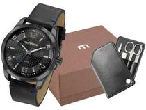 Relógio Masculino Mondaine Analógico - 53798GPMVPH1K1 Preto com Acessórios