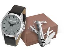 Relógio Masculino Mondaine Analógico - 76701G0MVNH1K Preto com Acessórios