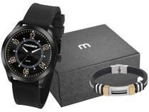 Relógio Masculino Mondaine Analógico - 83480GPMVPI2K1 Preto com Acessórios