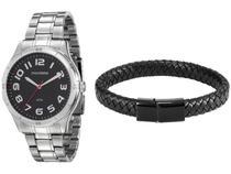 Relógio Masculino Mondaine Analógico - 99058G0MVNE1KI Prata com Acessório