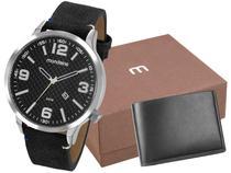 Relógio Masculino Mondaine Analógico - 99356G0MVNH2K Preto com Acessórios