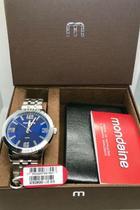 Relógio Masculino Mondaine Prata com Carteira 53792G0MGNE2K1 - Seculus