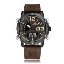 Relógio Masculino Naviforce 9095 BY Casual - Marron Preto -