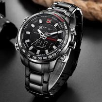 Relógio masculino naviforce importado modelo 9093 black -