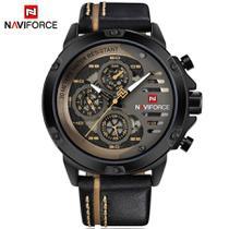 Relógio Masculino Naviforce Modelo 9110 Pulseira De Couro -