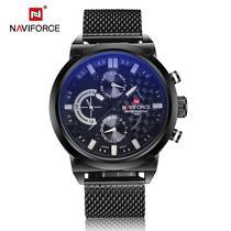 Relógio Masculino Naviforce NF9068S BWB  Preto E Branco -