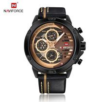Relógio Masculino Naviforce NF9110 BRGBN - Marrom e Dourado -