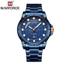 Relógio Masculino Naviforce NF9152 BEBE Pulseira Aço - Azul -