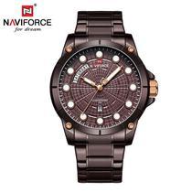 Relógio Masculino Naviforce NF9152 CECE Pulseira em Aço  Marsala - Curren