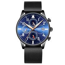 Relógio masculino Nibosi 2368 Preto/azul/rose -