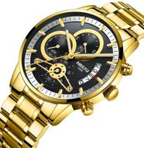Relógio Masculino Nibosi Cronógrafo Original Luxo -