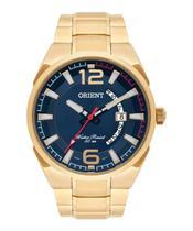 Relógio Masculino Orient Analógico Dourado Mgss1159 D2kx -