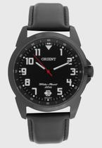 Relogio Masculino Orient preto pulseira de couro a prova dagua MPSC1009 P2PX -