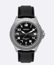 Relogio Masculino Orient pulseira de Couro Preto classico social Mbsc1032 G2px -
