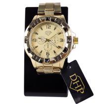 Relógio Masculino Original Dourado Prova D'Água Garantia - DHP