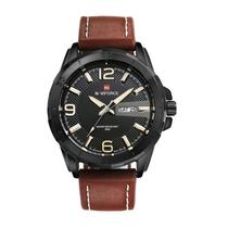 411ca2d2012 Relógio Masculino Original Naviforce Militar Pulseira Couro