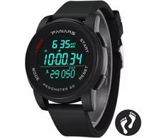 Relógio Masculino Panars 8108 Esportivo Digital Pedômetro -