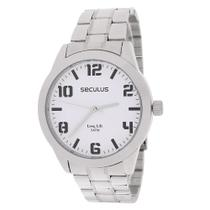 Relógio Masculino Prata Seculus 23458 -