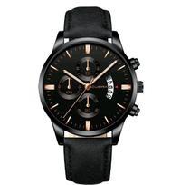 Relógio Masculino Preto Black Motion Design Quartz - Cuena