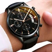 Relógio Masculino Preto Black Motion Design Quartz - Yazole