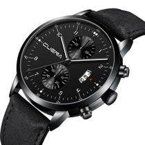 Relógio Masculino Preto Pressarium Design Quartz - Cuena