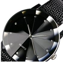 Relógio Masculino Prisma Quartzo Diamante Negro - Pjk Store