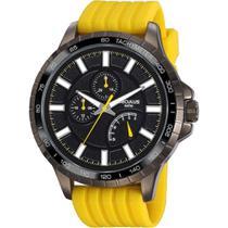 Relogio masculino pulseira amarela seculus 23676gpsvsi2 -