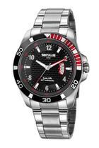 Relógio Masculino Seculus 20745G0SVNA1 46mm Aço Prata -