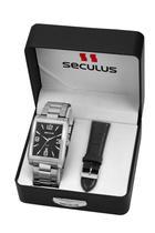 Relógio Masculino Seculus 23628G0SVNA1 38mm Aço Prata -